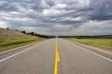 Straight Road In USA Royalty Free Stock Photography