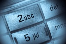 Free Macro View Of Mobile Phone Keypad Royalty Free Stock Image - 6923816