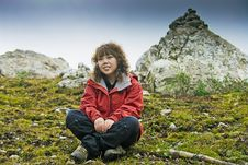 Free Girl And Mountaineering Royalty Free Stock Photography - 6923977