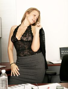 Free Sexy Secretary Take Off Her Suit Stock Photos - 6924123