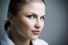 Free Beautiful Girl In Bathrobe. Royalty Free Stock Photos - 6924248