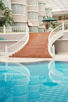 Free Hotel Patio Swimming Pool Stock Photography - 6924422