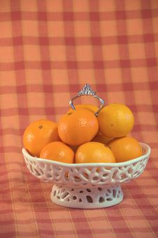 Free Bowl Filled With Mandarins Royalty Free Stock Photos - 6924488