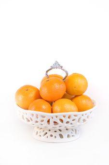 Bowl Full Of Mandarins Stock Photos