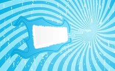 Flamy Blue Banner Background Stock Image