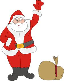 Santa Klaus Welcomes Royalty Free Stock Images