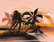 Free Tropical Background Royalty Free Stock Photography - 6925737