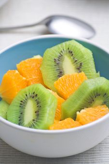 Free Dessert Of Kiwi And Orange Royalty Free Stock Photography - 6926247