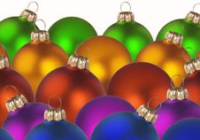 Christmas Colorful Balls Stock Photography