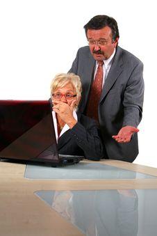 Free Manager Explains To Secretary Stock Photography - 6927312