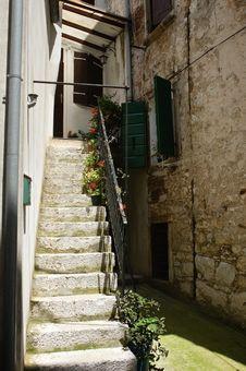 Staircase To The Door Stock Photos