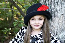 Little Girl Close-up Royalty Free Stock Photography