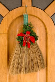 X-mas Broom Royalty Free Stock Image