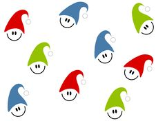 Free Tileable Christmas Smilies Stock Image - 6928001