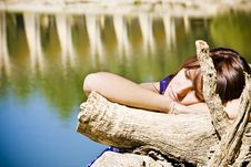 Free Young Woman In Nature Stock Image - 6928261