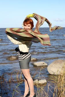 Free Red Haired Woman With Scarf Stock Photo - 6928850