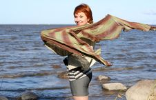Free Red Haired Woman With Scarf Stock Images - 6928864