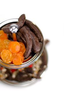 Free Dried Fruit And Chocolate Stock Images - 6928874