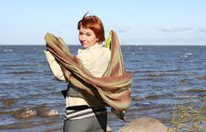 Free Red Haired Woman With Scarf Stock Photos - 6929033
