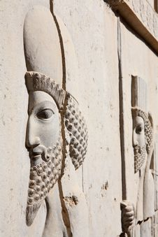 Free Bas-relief Of Persian Soldier Royalty Free Stock Photos - 6929378
