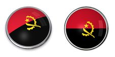Banner Button Angola Stock Image