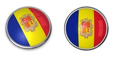Banner Button Andorra Stock Images