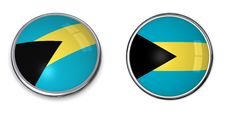 Banner Button Bahamas Royalty Free Stock Photography