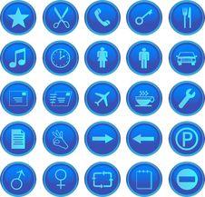 Free Web Icons Set Royalty Free Stock Images - 6929729