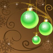 Free Christmas Decoration With Christmas Balls Royalty Free Stock Photos - 6929798