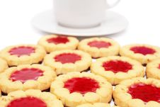 Free Cup Of Tea And Cookies. Royalty Free Stock Photography - 6929847