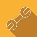 Free Flat Icon Of Wrench. Royalty Free Stock Image - 69243146