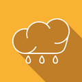 Free Flat Icon Of Cloud And Rain Drops Royalty Free Stock Photo - 69247485