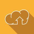 Free Flat Icon Of Cloud And Arrow Royalty Free Stock Image - 69247496