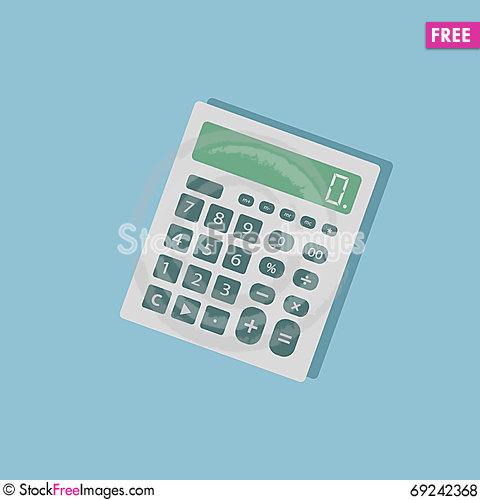 Free Calculator View Royalty Free Stock Photos - 69242368