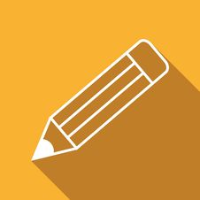 Free Flat Icon Of Pencil Royalty Free Stock Photo - 69243145