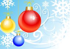 Free Abstract Colorful Illustration With Christmas Ball Stock Images - 6930214