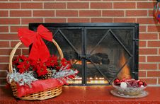 Free Holiday Fire Place Royalty Free Stock Photo - 6930285