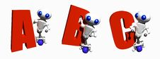 Free Robots With Letters Royalty Free Stock Image - 6930506