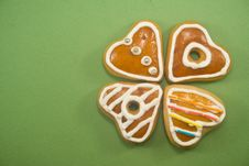 Free Heart Shaped Gingerbread Cookies Royalty Free Stock Photography - 6931087