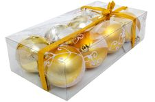 Free Christmas Set Of Eght Shiny Balls Stock Image - 6931171