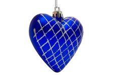 Free Christmas Deep Blue Heart Stock Image - 6931281