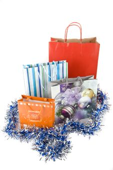 Free Shopping Bags For Holiday Stock Images - 6931314