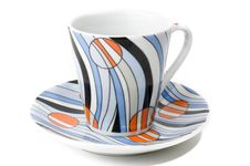 Free Close-up Of Colorfull Dish And Cup For Coffee Royalty Free Stock Photography - 6931687