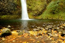Horse Tail Falls In Oregon Stock Photos