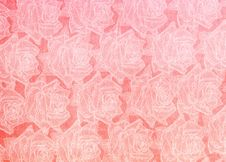 Free Abstract Paper Roses Background Royalty Free Stock Images - 6932279