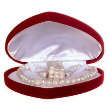 Heart Shaped Red Box Royalty Free Stock Photos