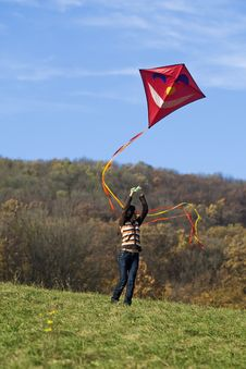Free Fly A Kite Royalty Free Stock Image - 6951686