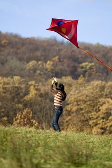 Free Fly A Kite Royalty Free Stock Images - 6951779