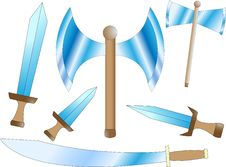 Battle Weapons Royalty Free Stock Photography