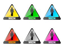 Men Toilet Label Royalty Free Stock Images